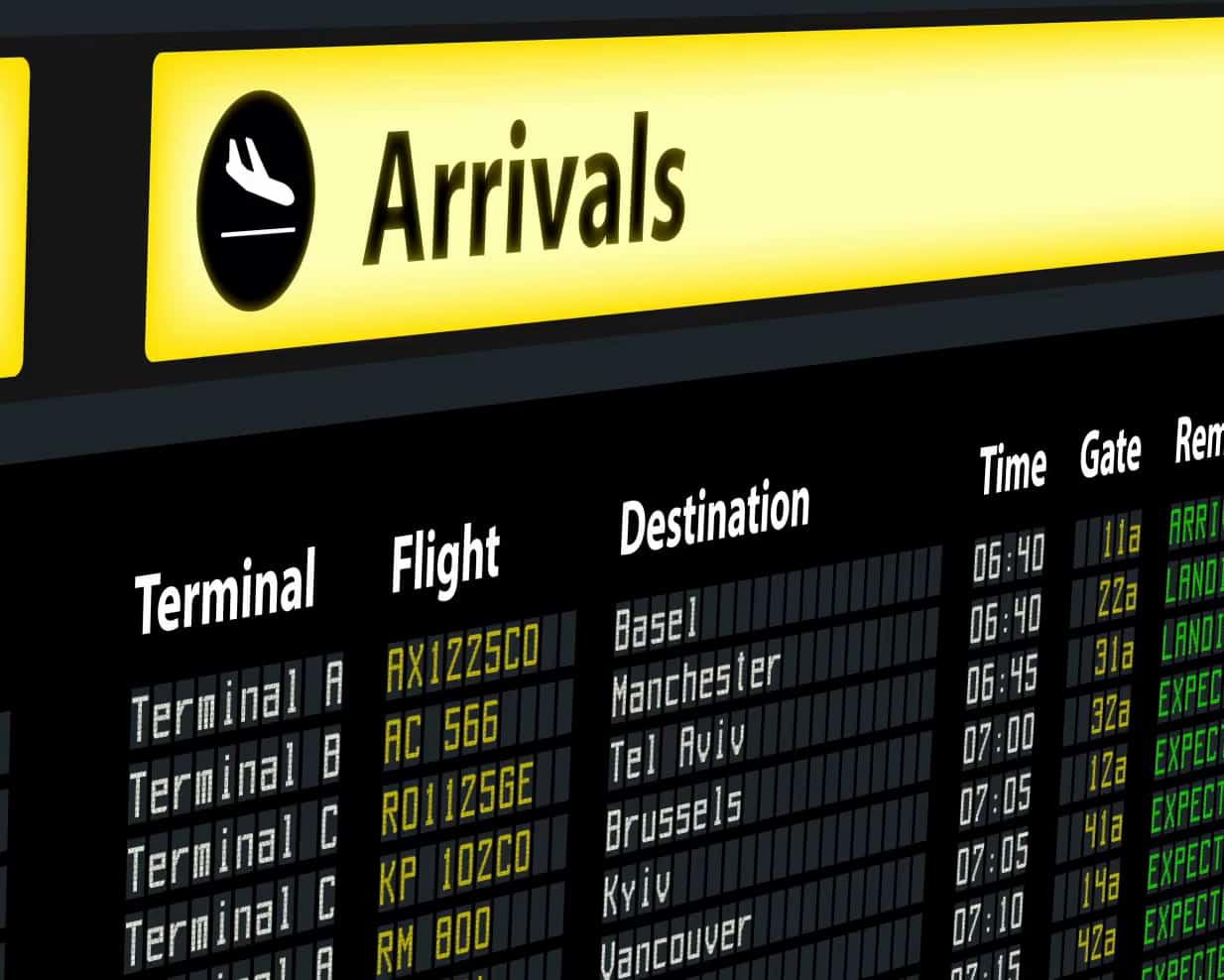 Flughafen Arrivals